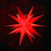 18-zackiger XL-Kunststoff-Stern für außen - rot