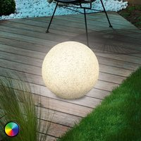 Mega Stone 30 - moderne Solar-LED-Leuchtkugel