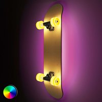 Skateboard mit Licht - LED-Wandlampe Light Cruiser