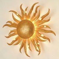Wandleuchte Sonne Ø 45 cm gold