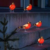 Rotkehlchen - LED-Acryl-Leuchtfiguren 5er