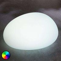 RGB-LED-Solarlampe Floriana, Steinform, 22 cm