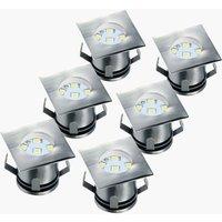 6er-Set - LED-Bodeneinbaustrahler Ranex