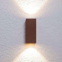 Leuchtstarke LED-Außenwandleuchte Tavi rostbr.