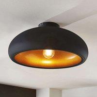 Metall-Deckenlampe Gerwina, schwarz-gold
