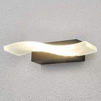 Wellenförmige LED-Außenwandleuchte Jirka