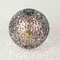 Lindby Eduta Ornament-LED-Solarleuchte silber-gold
