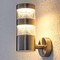 LED-Edelstahl-Außenwandleuchte Lanea gerade