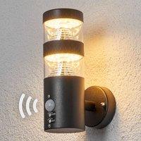 Sensor-Außenwandleuchte Lanea mit LED