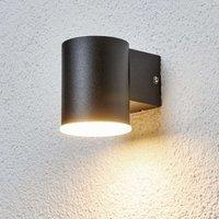 Schlichte LED-Außenwandlampe Morena in Schwarz