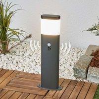 Sensor-LED-Sockellampe Marius in Dunkelgrau