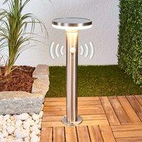 Solar-Sockellampe Eliano mit Sensor und LEDs