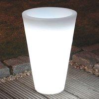 Lámpara macetero redonda SHINING POT, altura 45 cm