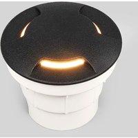 Schwarze LED Boden-Einbauleuchte Ceci 120-3L