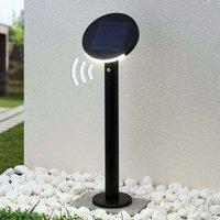 Lindby Cletus LED-Solar-Wegeleuchte mit Sensor