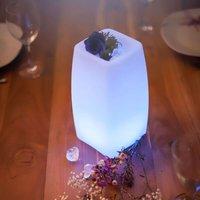 Per App steuerbare LED-Tischleuchte Stele m. Akku