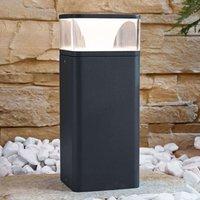 LED-Sockelleuchte Lidia aus Aluminium 25 cm