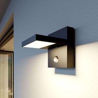 LED-Außenwandlampe Silvan, dunkelgrau, mit Sensor
