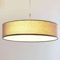 Hängeleuchte Sebatin mit E27-LED, 50 cm, grau
