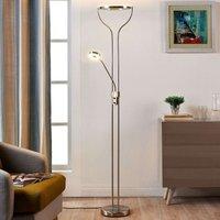 Ringförmige LED-Stehlampe Lana m. Leselicht