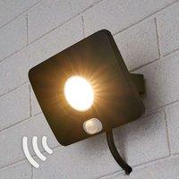 LED-Außenstrahler Duke aus Alu mit Sensor, 10W