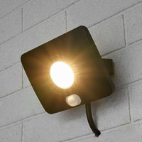 LED-Außenstrahler Duke aus Alu mit Sensor, 20W