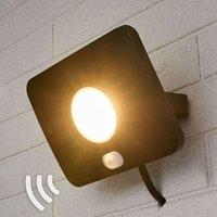 LED-Außenstrahler Duke aus Alu mit Sensor, 30W