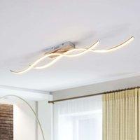LED-Deckenleuchte Safia in Wellenform, zweiflammig