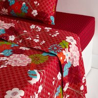 Miss China Floral Print Cotton Flat Sheet