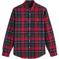Cotton Slim Fit Oxford Shirt in Tartan Check