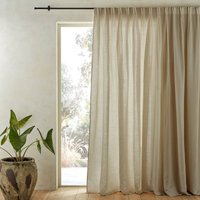 Colin Pure Linen Curtain with Flemish Pleats