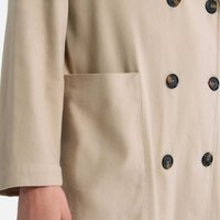 Lightweight Summer Trench Coat with Button Fastening