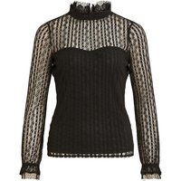 Lace High-Neck Blouse with Bustier Effect