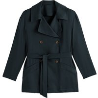 Draping Mid-Length Trench Coat