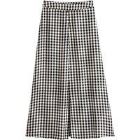 Gingham Midaxi Pencil Skirt
