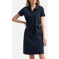 Organic Cotton Pique Dress with Short Sleeves