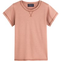 Cotton/Linen T-Shirt with Crew Neck and Short Sleeves