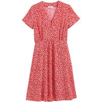 Floral V-Neck Mini Dress with Short Sleeves