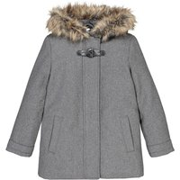 Hooded Duffle Coat in Wool Mix, 2-14 Years