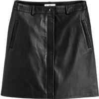 Leather Straight Mini Skirt