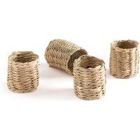 Set of 4 Nala Woven Straw Napkin Rings