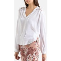 Lavina Round-Neck Blouse with Long Sleeves.