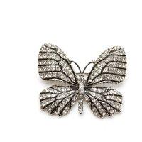 Diamanté Butterfly Brooch