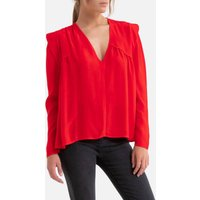 V-Neck Blouse with Long Sleeves.