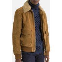 Suede Sherpa Collar Jacket
