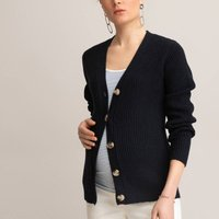 Recycled Maternity Cardigan with V-Neck