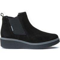 Emie Velvet Ankle Boots with Wedge Heel