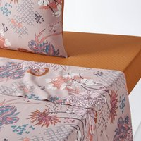 Chinese Flower Cotton Percale Flat Sheet