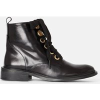 Rabiatou Leather Ankle Boots with Lace-Up Fastening