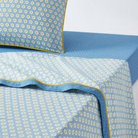 Pop Mozaic Printed Cotton Flat Sheet